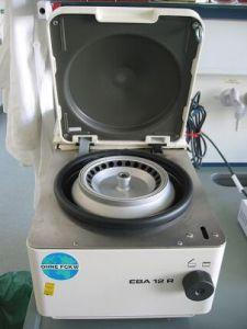Centrifugadora usada para el PRP