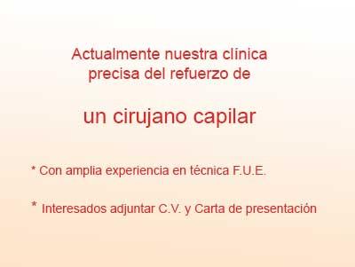 Oferta de cirujano capilar