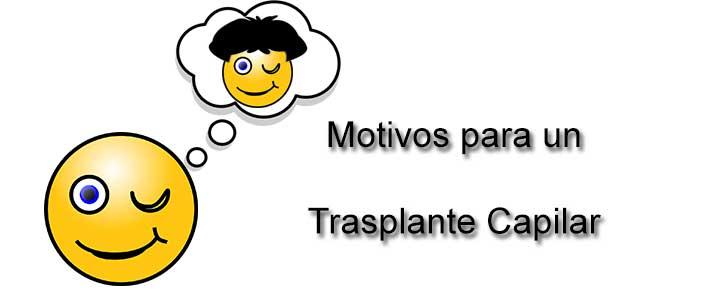 Motivos para un trasplante capilar