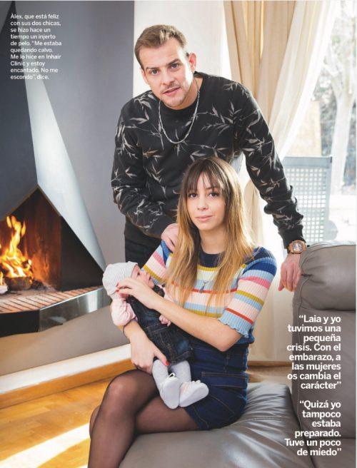 Alex Casademunt con su mujer y su hija