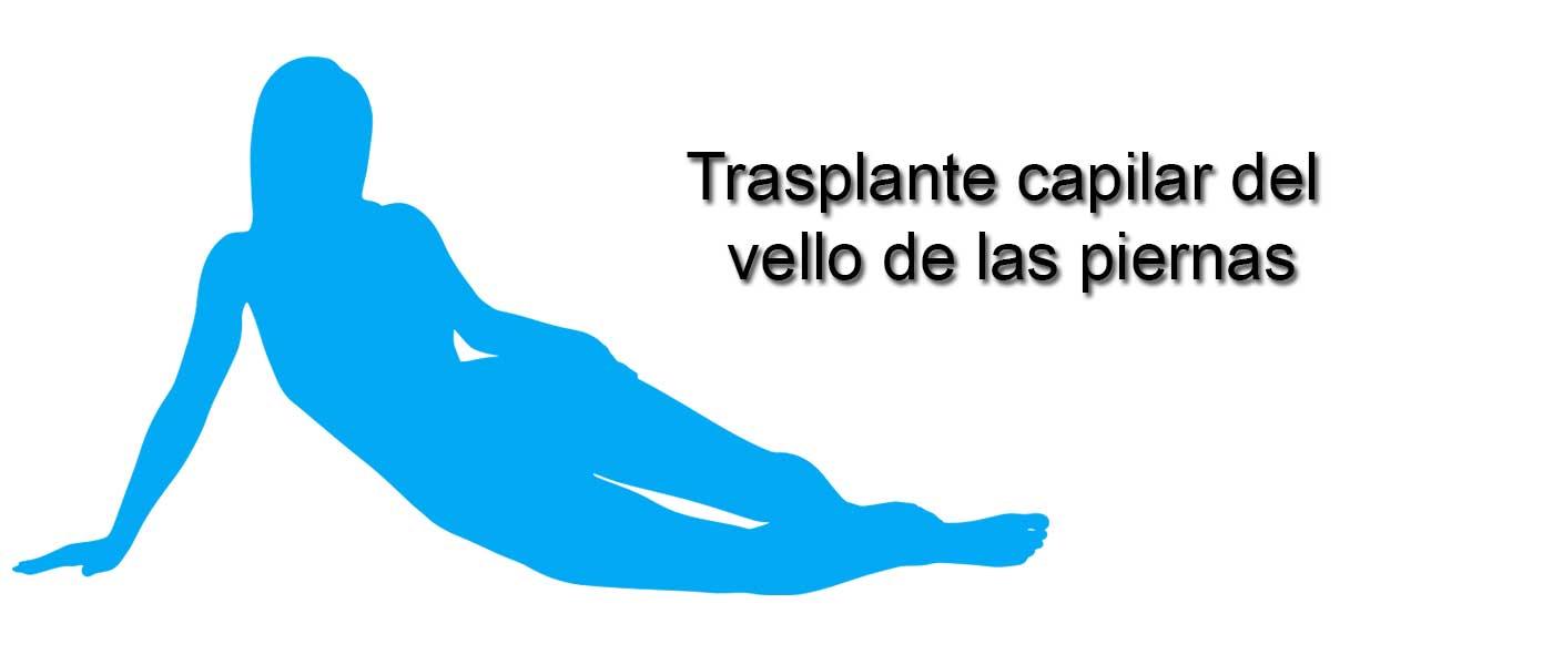 Trasplante capilar con el vello de las piernas